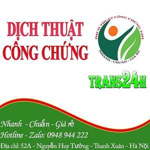 Dịch Thuật Công Chứng Trans24H