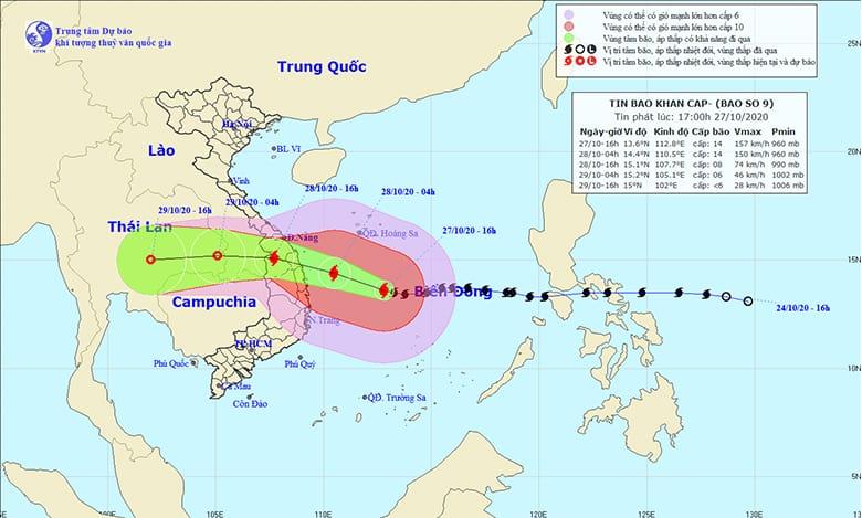 Mưa lũ miền trung 2020 - Cơn bão số 9