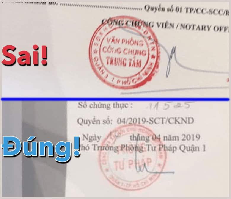 Dấu Chứng Thực Tư Pháp Hợp Lệ Visa Hàn Quốc