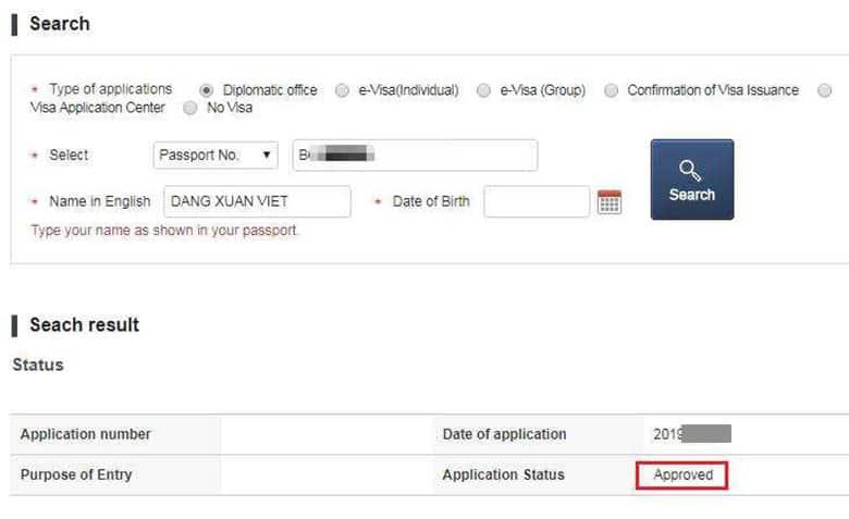 Kiểm tra Kết Quả Xin Visa Hàn Quốc