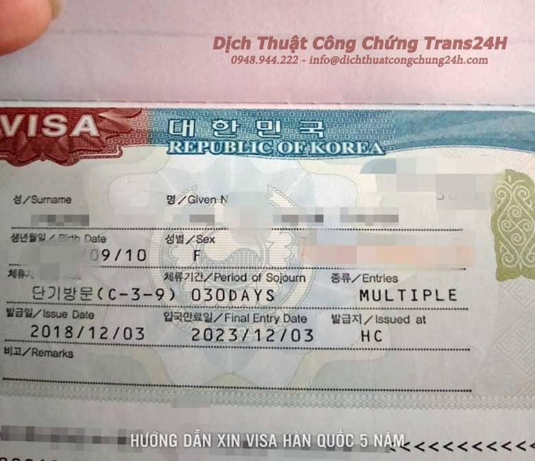 Hướng Dẫn Chi Tiết Xin Visa Hàn Quốc 5 Năm [2020]