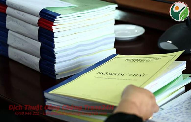 Dịch thuật công chứng hồ sơ thầu
