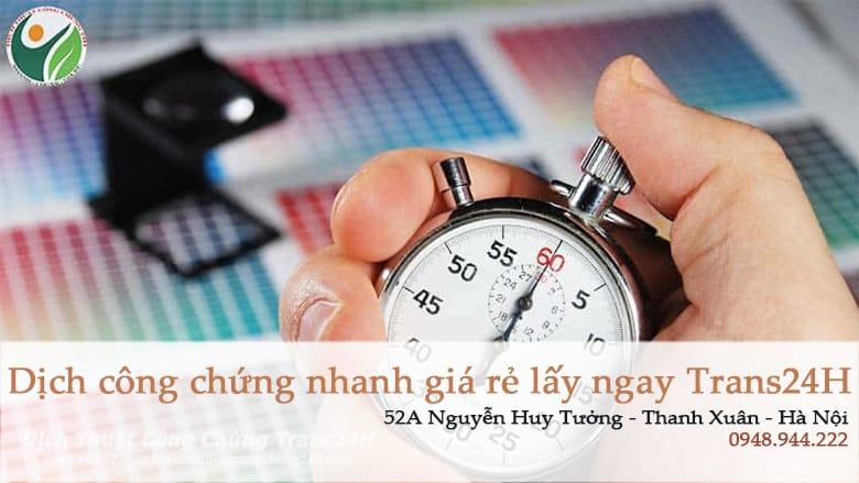 Dịch thuật nhanh lấy ngay trong ngày tiết kiệm thời gian lẫn chi phí