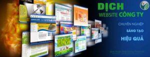 Dịch Website & Xây dựng website đa ngôn ngữ doanh nghiệp